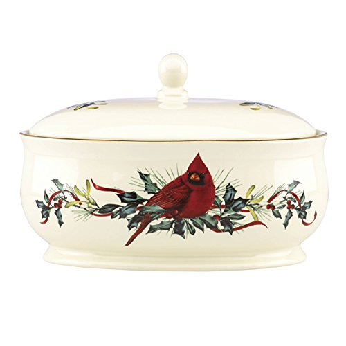 Lenox Winter Greetings Covered Casserole Dish, Multicolor