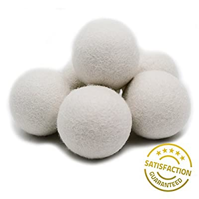 EcoJeannie (1 piece) Wool Dryer Balls - Premium XL Organic Eco-Friendly Natural Unscented Non-Toxic Felt Laundry Balls - Natural Anti-Static Chemical Free Fabric Softener Static Guard - Handmade in Nepal with 100% Natural New Zealand Premium Wool from Sur