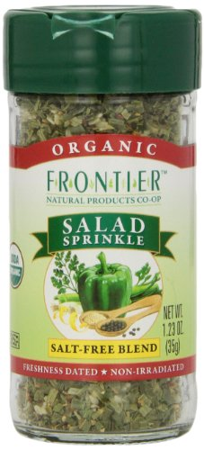 Frontier Salad Sprinkle Certified Organic, 1.23-Ounce Bottle