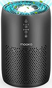 MOOKA Air Purifier for Home Large Room 861 sq ft, H13 HEPA Filter Air Cleaner for Bedroom Office, Odor Elimina
