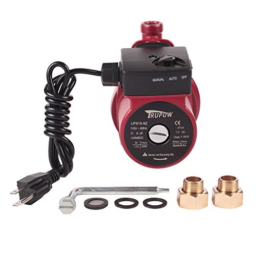 110V Hot Water Automatic Circulation Pump Cast Iron Circulator Pump (Watts Hot Water Recirculating Pump)