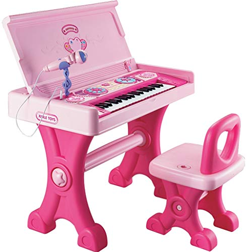 (LIUFS-Piano Children's Large Keyboard Girl Toy Study Table Early Education Music Child Baby Grand Piano 6-15 Years Old (Color : Pink))