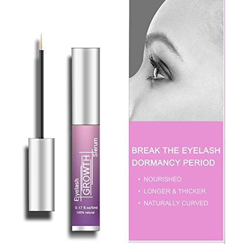 Eyelash Serum Eyelash Growth Serum Lash Enhancer Serum Eyelash Booster for Longer Fuller Eyelashes Eyebrow Enhancer Serum 5ml by Cafepola (Image #1)