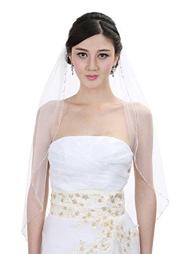 Crystal Beaded Bridal Wedding Fingertip product image