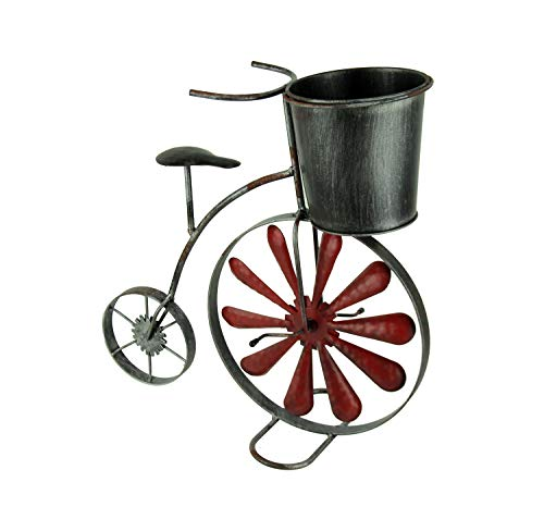 Metal Retro Big Wheel Bicycle Indoor/Outdoor Planter Sculpture