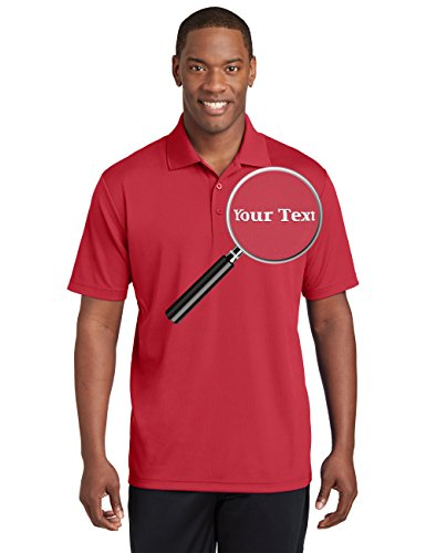 Custom Embroidered Performance Polo Shirts - Personalized Collar Embroidery Tees