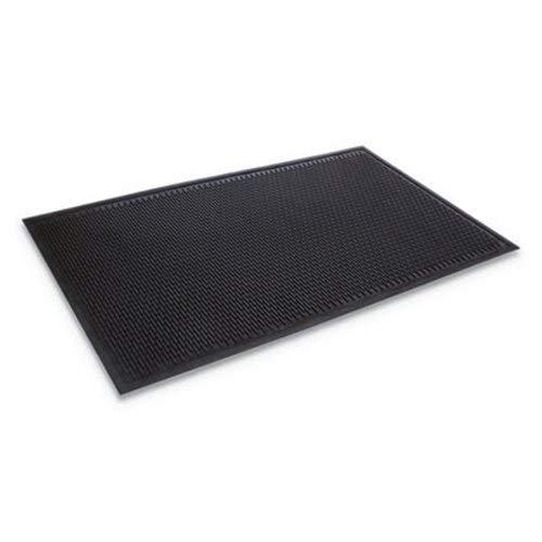Alera Crown TD0035BK Crown-Tred Indoor/Outdoor Scraper Mat Rubber 35 1/2 x 59 1/2 Black