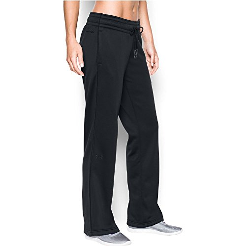 Under Armour Women's Storm Armour Fleece Lightweight Pant, Black/Black, Large