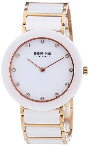 BERING Time 11435-766 Womens Ceramic Collection Watch with Stainless steel Band and scratch resistant sapphire crystal. Designed in Denmark.