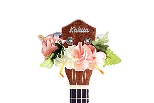 - ukuhappy Ukulele Ribbon Leis Hawaiian Crafts Ukulele Accessories Hibiscus pink