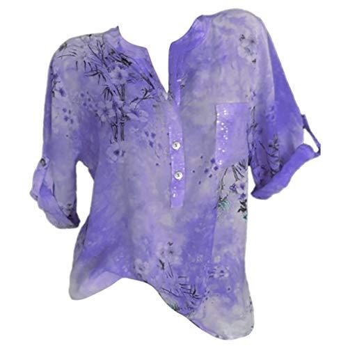 LUCA Women's Short/Long Sleeve High Low Loose T Shirt Basic Tee Tops ()