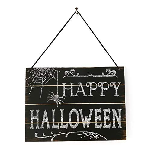 Party Diy Decorations - Halloween Trick Or Treat Letter Bowknot Wooden Spooky Ornament Party Club House Office Hanger - Knife Skull Halloween Decor Wiggle Fake Backless Web Kakao -