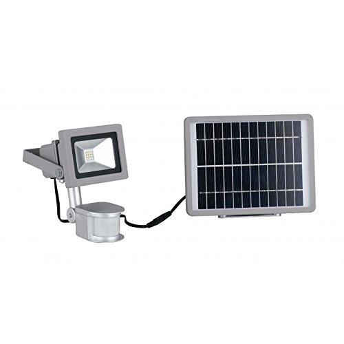 Fan Europe Proyector LED con panel solar integrado, 9 W ...