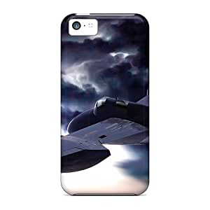 Durable Airplane Above The Clouds Back Case/cover For Iphone 5c