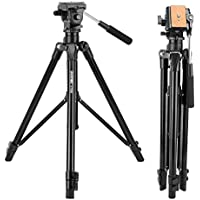 Zomei Video Tripod VT555 Professional 360°Degree Fluid Damping Head Fit Parnoramic Shooting,Siutable DSLR Camcorder Video A Portable Bag(Black)