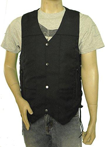 Vance Leather Ten Pocket Textile Motorcycle (4 Pocket Leather Vest)