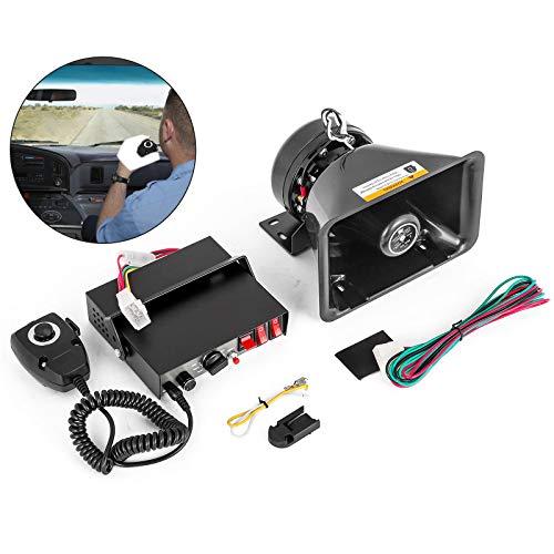 Mophorn 400W 8 Sound Loud Car Warning Alarm Police Siren Horn Speaker MIC System (for 12V 8 Sound)