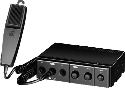 TOA CA-130 Mobile Mixer-Amplifier 12 VDC 30W by TOA ELECTRONICS