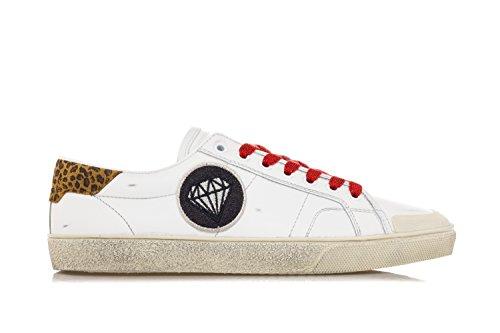 Classic Uomo Saint Sneakers SL Pelle Court Signature Scarpe Bianco Laurent 37 in Yqqgf