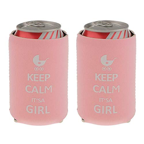 2pcs/Lot Beer Bottle Can Soda Cooler Holder Wedding Party Baby Shower Gift Favor |Item - Keep Calm Its a Girl|