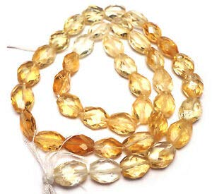 Multi Gold Yellow Citrine 7-10MM Faceted Oval Beads 14