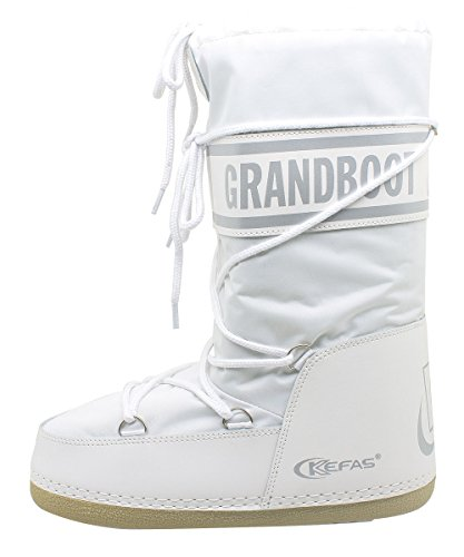 Kefas 20 Uomo Bambino Boot Taglia 22 Donna Grandboot Doposci Bianco rCwqxOr67