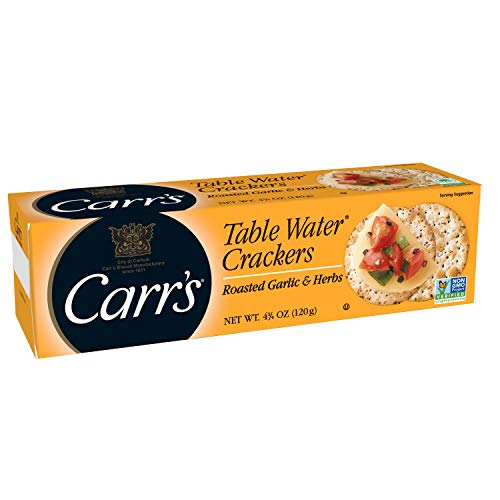 - Carr's, Table Water Crackers - Roasted Garlic and Herb - 4.25 oz
