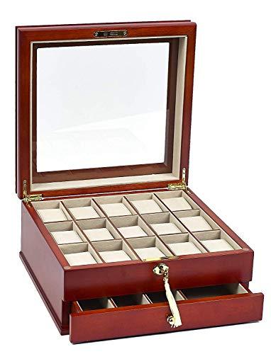 Riverside Park Men's/Women's Watch Box for 15 Watches