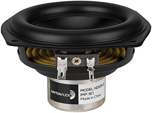 Dayton Audio ND105-8 4 Aluminum Cone Midbass Driver 8 Ohm
