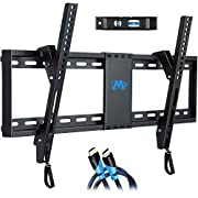 "#LightningDeal Mounting Dream UL Listed TV Mount for Most 37-70 Inches TVs, Universal Tilt TV Wall Mount Fits 16"", 18"", 24"" Studs with Loading 132 lbs & Max VESA 600x400mm,Low Profile Wall Mount Bracket MD2268-LK"
