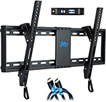 """Mounting Dream UL Listed TV Mount for Most 37-70 Inches TVs, Universal Tilt TV Wall Mount Fits 16"""", 18"""", 24"""" Studs with..."""