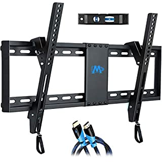 "Mounting Dream UL Listed TV Mount for Most 37-70 Inches TVs, Universal Tilt TV Wall Mount Fits 16"", 18"", 24"" Studs with Loading 132 lbs & Max VESA 600x400mm,Low Profile Wall Mount Bracket MD2268-LK"