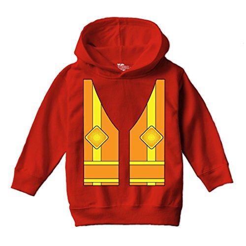 Tcombo Construction Costume Toddler Hoodie Sweatshirt (Red, 4T)