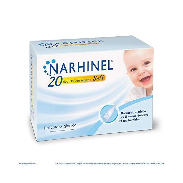 NARHINEL 20 Ricambi Usa e Getta Soft in Plastica Morbida, con Filtro Assorbente, per Trattenere il Muco ed Aiutare a… 1