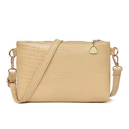 Fashion Handbag, Women Vintage Totes Crocodile Pattern able Bag Crossbody Small Mini Messenger Shoulder Bag Small Tote Purse For Ladies Khaki