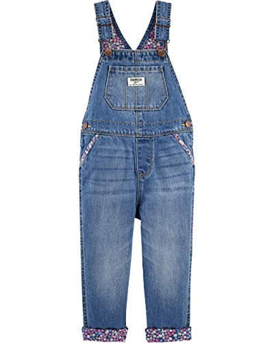 Osh Kosh Girls' Toddler World's Best Overalls, Highline, 2T