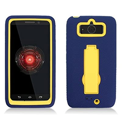 AIMO Rugged Wave Armor Case w/ Built-in Kickstand for Motorola DROID Mini XT1030 [Verizon] from Aimo Wireless