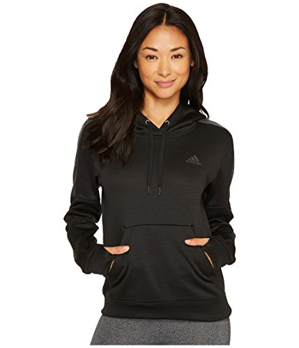 - adidas Women's Team Issue Fleece Pullover Hoodie, Black Melange/Dark Grey Melange/Utility Black, X-Small