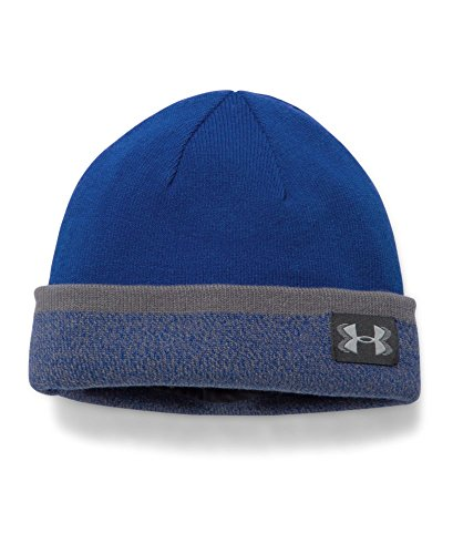 Under Armour Boys' Sideline 2.0 Beanie, Royal (400)/Graphite, One Size
