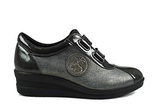 Enval Mujer Zapatos Antracite Zapatillas De 22672 Soft qwqSxCH8