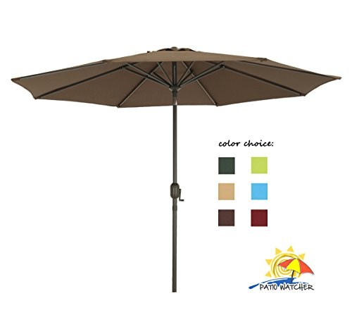 Patio Watcher Aluminum GSM Fabric Chocolate