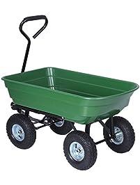 Homgrace Garden Carts 650lb Heavy Duty Dump Cart, Lawn Trailer, Wagon  Carrier