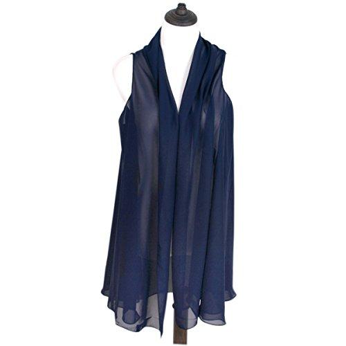 TrendsBlue Multi Solid Chiffon Kimono product image
