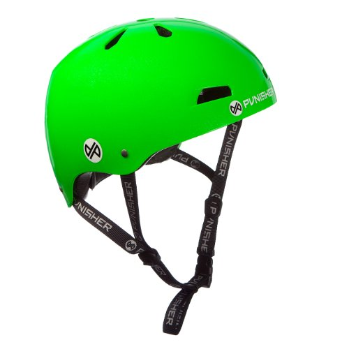 Punisher Skateboards Pro 13-Vent Dual Safety Certified BMX Bike and Skateboard Helmet, Bright Neon Lime Green, Youth/Teen 9+