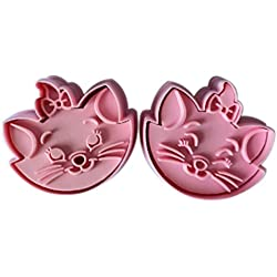 2pcs Marie Cat cookie cutter Fondant Cake sugarcraft crafts mold modelling tool