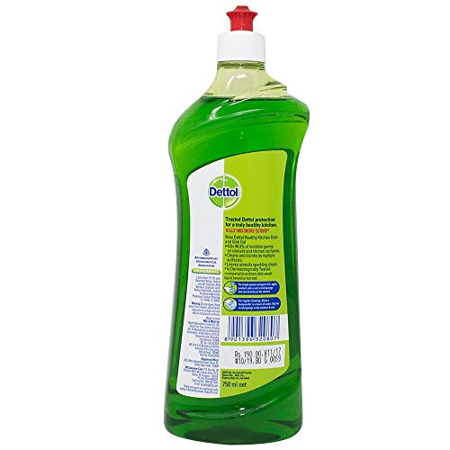 Dettol Kitchen Dish and Slab Gel - 750 ml (Lime Splash)