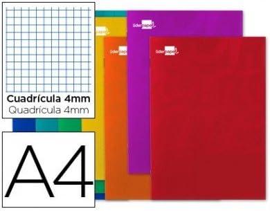 Liderpapel - Libreta write a4 80 hojas 60g/m2 cuadro 4mm con ...