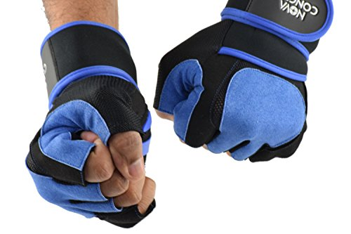 Half Finger Weight Lifting Gym Gloves With 15
