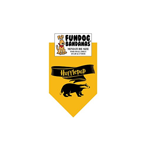 HP Hufflepup Dog Bandana (Miniature for Small Dogs Less than 20 lbs) -
