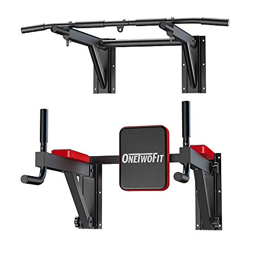 18affe0291bd2 OneTwoFit Multifunctional Wall Mounted Pull Up Bar Power Tower Set Chin Up  Station Home Gym Workout Strength Training Equipment Fitness Dip Stand ...